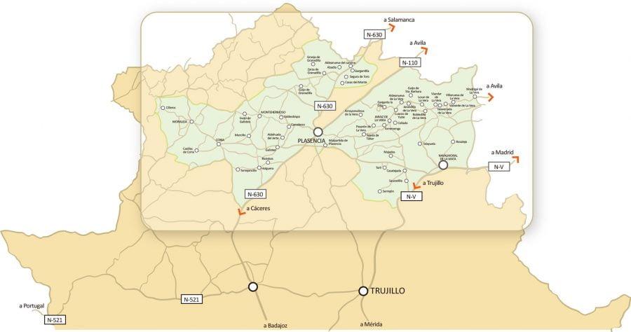 Mapa Pimentón de La Vera