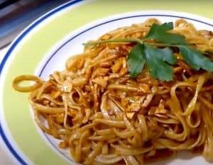 espagetis al pimentón de la vera